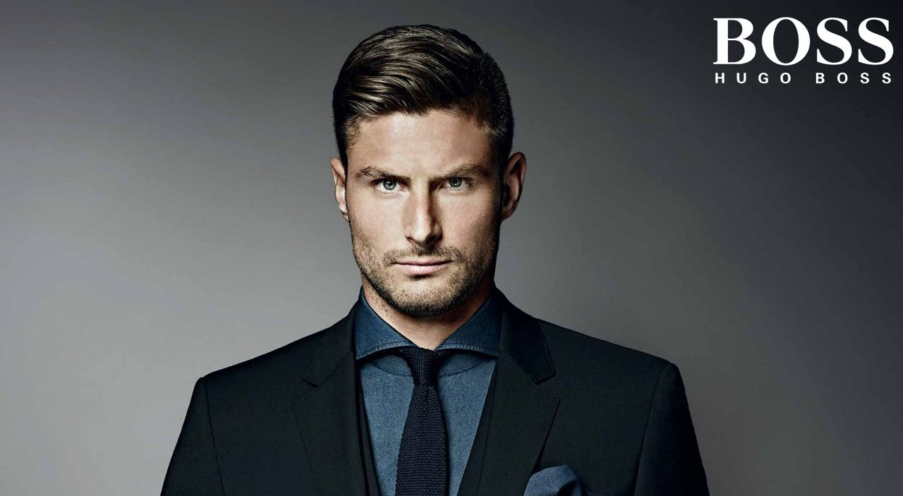 coupe du monde de foot hugo boss soutient olivier giroud le journal beaut. Black Bedroom Furniture Sets. Home Design Ideas
