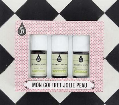 coffret jolie peau LCA Aroma huiles essentielles