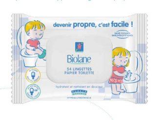 biolane lingettes enfant papier toilette