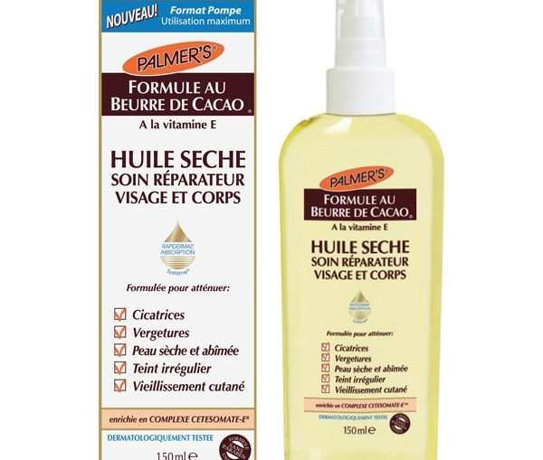 huile sèche visage corps palmer's