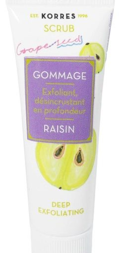 korres exfoliant raisin