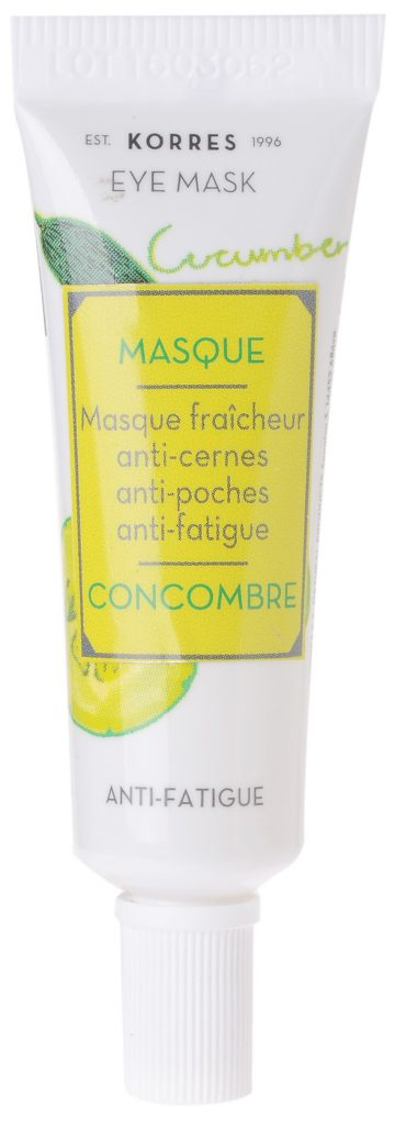 korres masque anti fatigue concombre