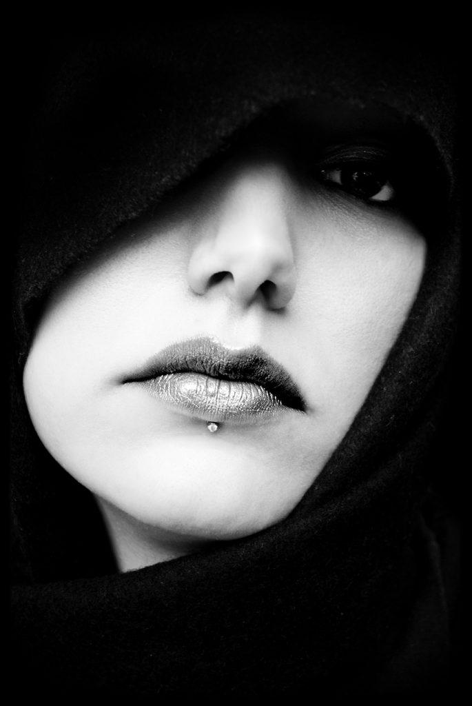 visage femme bouche