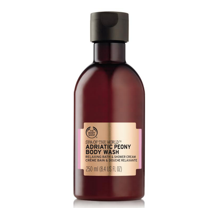 the body shop gel douche spa of the world adriatic peony