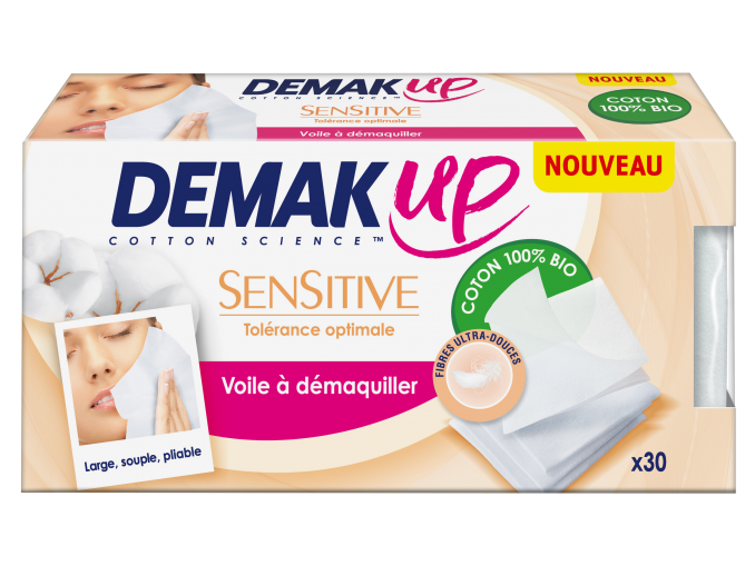 Demak up voiles démaquillants peau sensible